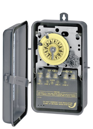 Intermatic T1472BR 4PST 24 Hour 208-277-Volt Time Switch with 3R Steel (277v Time Switch)