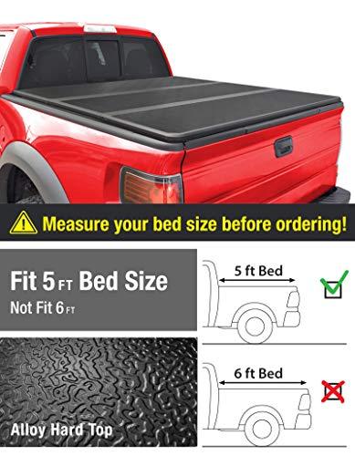 MaxMate Alloy Tri-Fold Hard Top Truck Bed Tonneau Cover for 2005-2019 Nissan Frontier; 2009-2014 Suzuki Equator | Fleetside 5