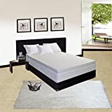 Greaton 2-Inch High Density Foam Topper-Adds Comfort to Mattress with Removable Cover, Queen, Size