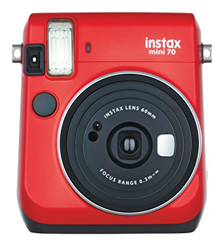 Fujifilm Instax Mini 70 – Instant Film Camera (Red)