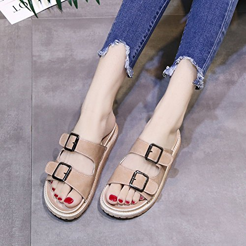 FLYRCX Señoras de moda de verano zapatillas b