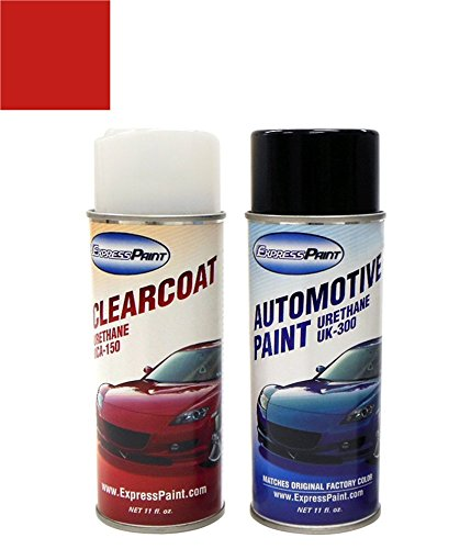 ExpressPaint Aerosol Jeep Wrangler Automotive Touch-up Paint - Flame Red Clearcoat PR4 - Color + Clearcoat ()