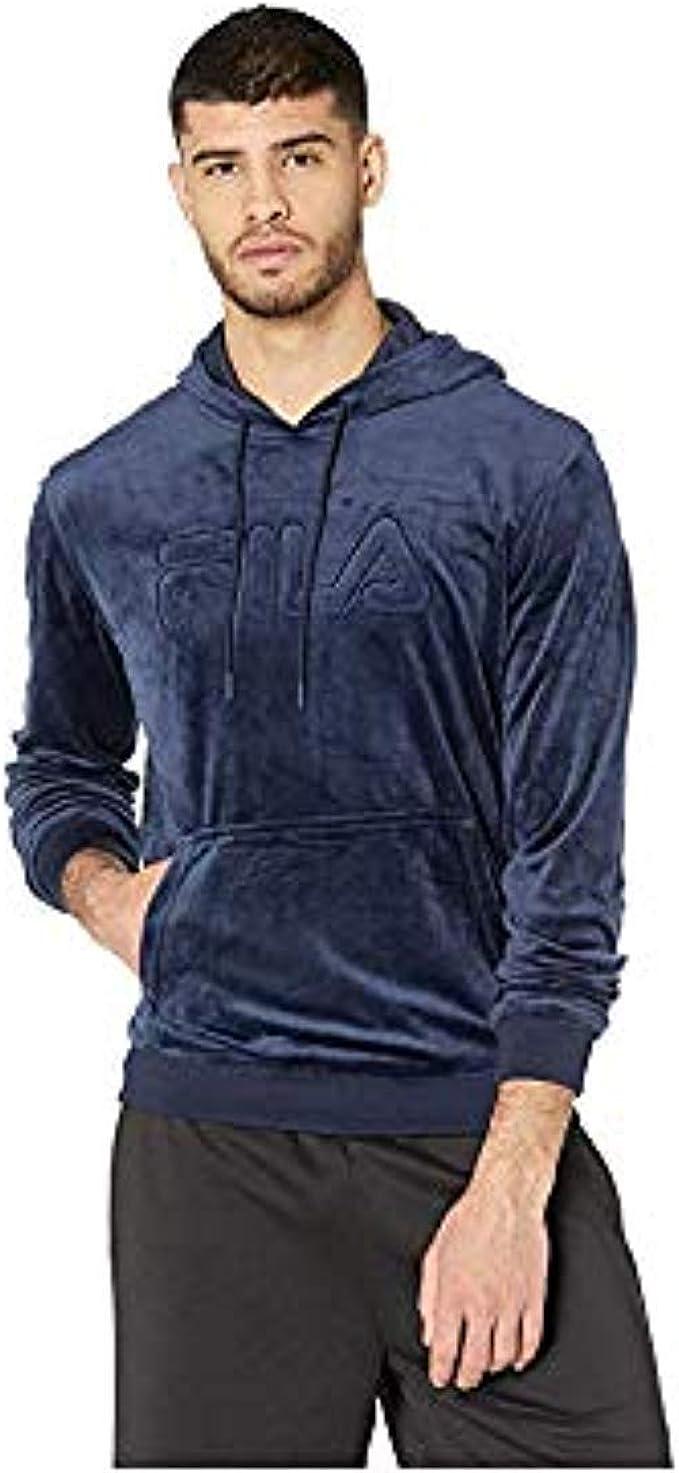 Jockey Mens Velour Pullover Hoodie Top