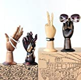 Wooden Hand Manikin Male Hand Mannequin Joint for Window Bracelet,Puppet,Glasses,Jewelry Props Display,B538A
