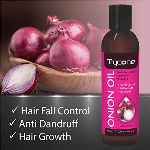 Trycone aceite de cebolla para cabello con vitamina E, aceites y ...