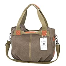 [KIREI obsession] Women's Tote Bag, Shoulder Bag, Cross-Body Bag, 3-way Bag, Canvas, Simple, Functional, Large Capacity, [2 Sizes] [5 Colours]
