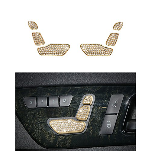1797 Compatible W212 C117 X156 B E CLA GLA GLE CLS GLS SLC Class AMG Seat Adjust Button Caps Mercedes Benz Accessories Parts Bling Covers Decals Stickers Interior Decorations Women - Badges Blinker