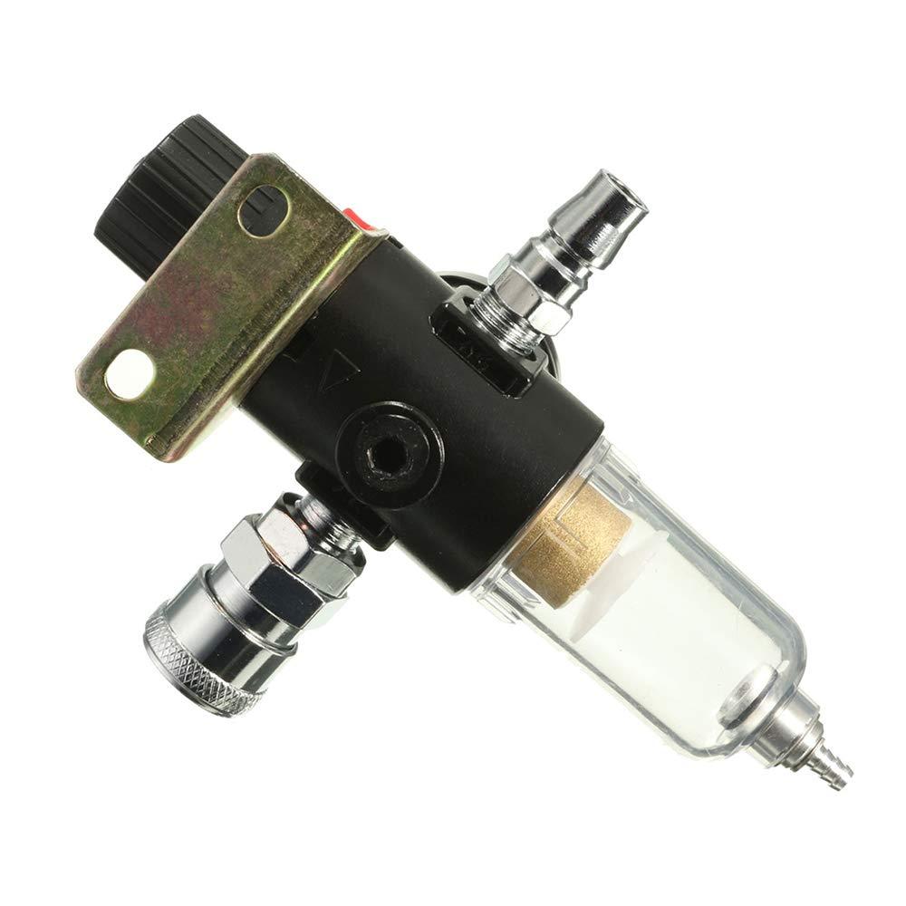 1//4Kit de herramientas de la trampa del separador de agua del filtro del compresor de aire con el indicador del regulador