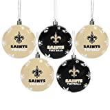 New Orleans Saints 2016 5 Pack Shatterproof Ball Ornament Set