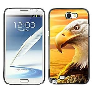 Be Good Phone Accessory // Dura Cáscara cubierta Protectora Caso Carcasa Funda de Protección para Samsung Note 2 N7100 // Eagle Royal Flying Desert Bird Magnificent