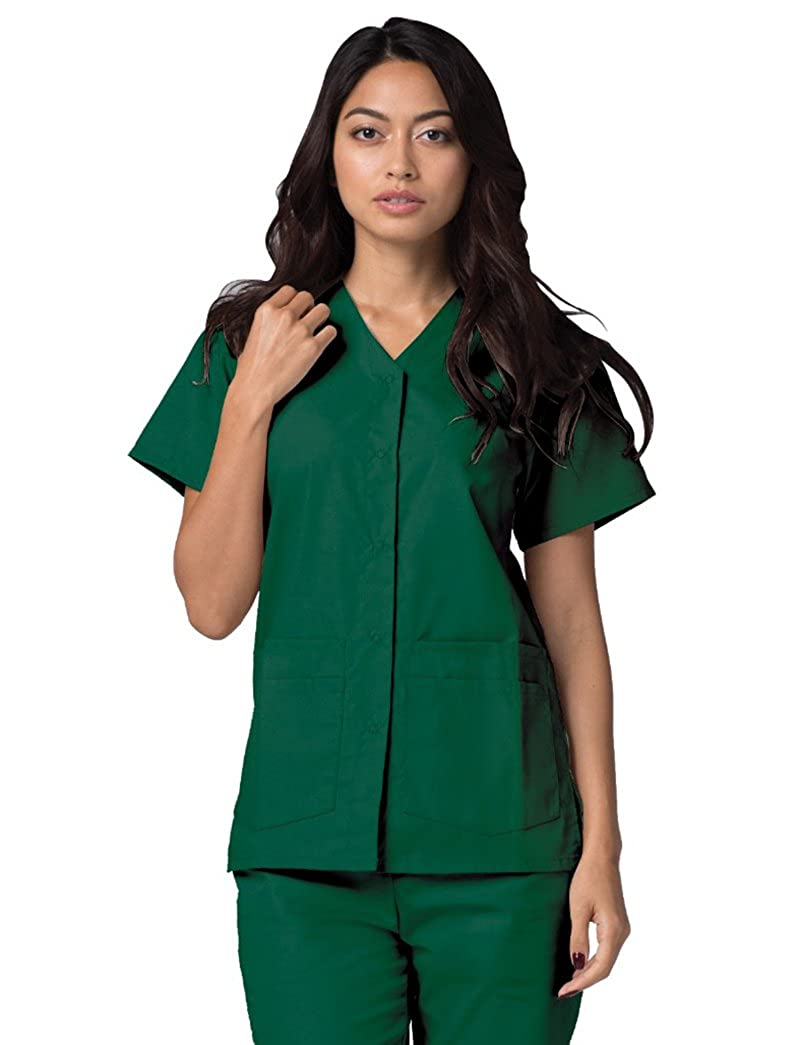 Adar Universal Double Pocket Snap Front Top (Available in 39 solid colors) ADAR UNIFORMS 604