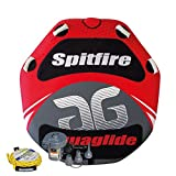 Aquaglide Spitfire 60 Two-Person Towable Tube Package with 12V Inflator and Tow Rope