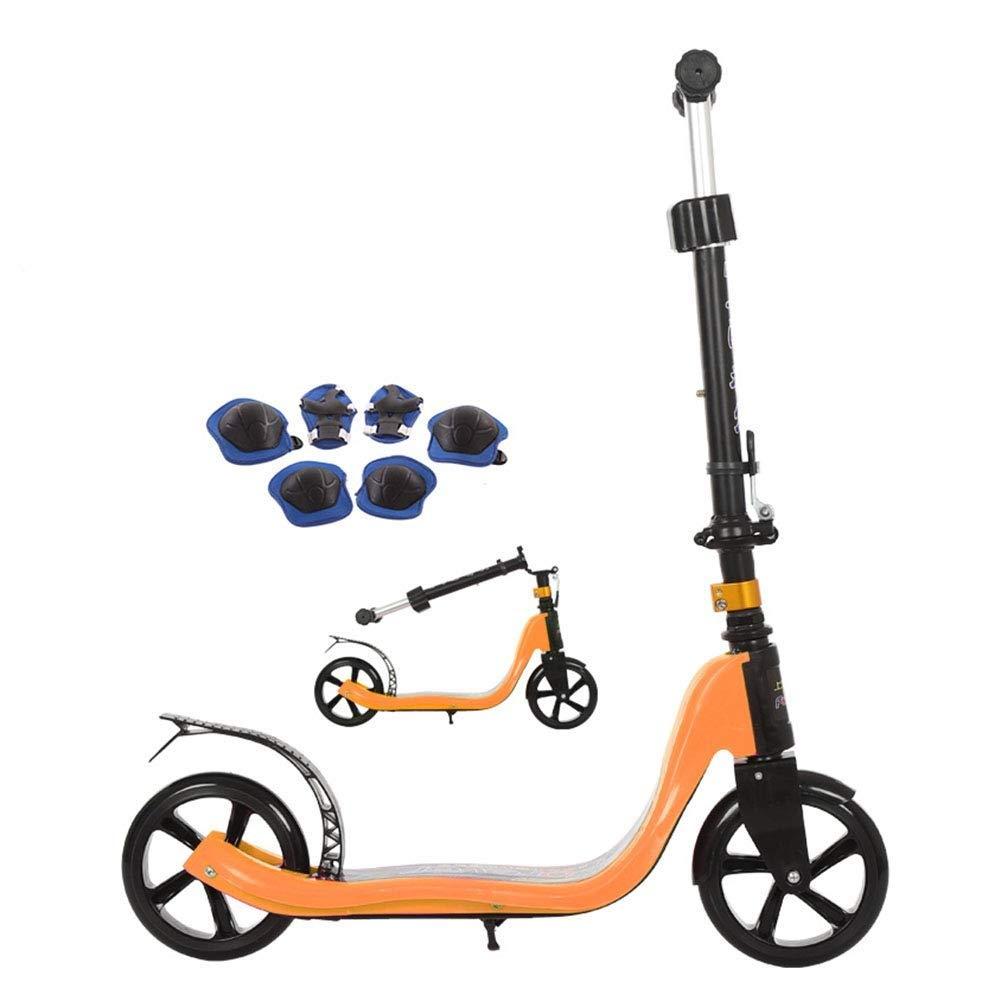 【ネット限定】 スクーターを蹴る子供たち ジュニア折りたたみスクーター、キックスクーター、子供用スクーター (色 : オレンジ ピンク) (色 B07R48TK57 B07R48TK57 オレンジ オレンジ, カリス成城@ここちeくらしShop:91058cd6 --- 4x4.lt