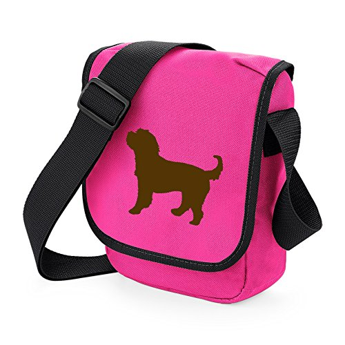 Choice Gift Cocker Bag Spaniel Bag Shoulder Bag Brown Silhouette Poodle Reporter Cockerpoo Bag Colours of Cockapoo Cross Dog Dog Pink S7A4O