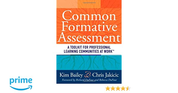 Common Formative Assessment: A Toolkit for Professional