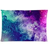 Universe Space Nebula Galaxy Pattern Custom Zippered Bed Pillow Cases 20x30 (Twin sides)
