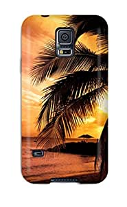Cheap Flexible Tpu Back Case Cover For Galaxy S5 - Beach 5085531K84110062
