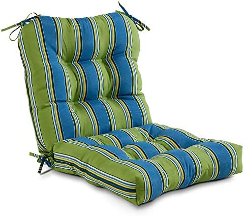 South Pine Porch AM5815-CAYMAN Cayman Stripe Outdoor Seat/Back Chair Cushion