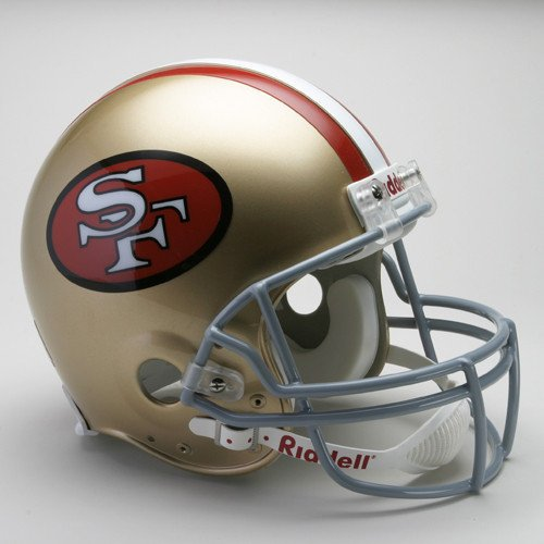 San Francisco 49ers 1964-1995 Throwback Riddell Full Size Authentic Proline (1995 Authentic Throwback Helmet)