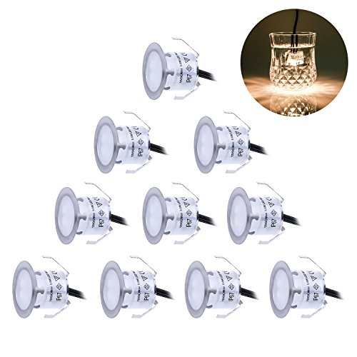 Recessed LED Deck Lighting Kits 12V Low Voltage Warm White ?22mm Waterproof IP 67Led In Ground Lighting for StepsStairPatioFloorPool Deck Kitchen ...  sc 1 st  Lighting Shop & Recessed LED Deck Lighting Kits 12V Low Voltage Warm White ?22mm ...