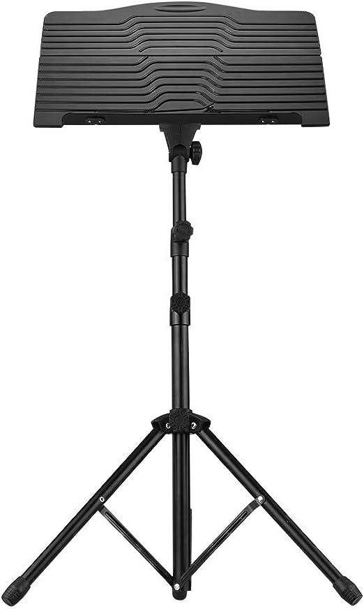Muslady Soporte de Partitura Estante Plegable Portátil Metal Trípode Ajustable Altura Negro: Amazon.es: Instrumentos musicales