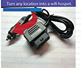 Image of PeraltaProducts 12v Car Plug Cigarette Lighter Adapter for AT&T ZTE Mobley LTE Hotspot Unlimited