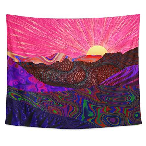 Lucid Eye Studios Trippy Trek Tapestry Wall Hanging- Rainbow
