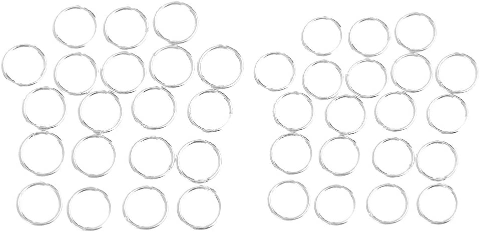 40 Pieces Metal Closed Jump Rings Jewelry Making Findings for DIY Crafts 4mm 5mm