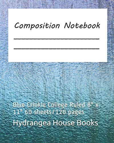 Crinkle Shell - Composition Notebook: Blue  Crinkle  College Ruled   8