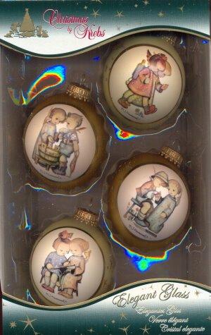Christbaumkugeln Lauscha.Amazon De Christbaumkugeln 4er Box Mit Hummelbildern