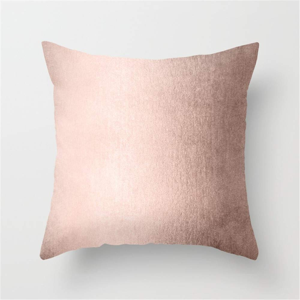 Huisfa Moon Dust Rose Gold Pillow Cushion Cover Case 18 X 18 inches
