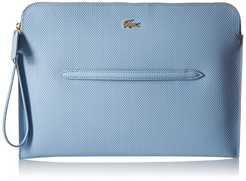 Lacoste Women's Chantaco Large Wrislet Clutch Bag, Blue Fog, One Size by Lacoste