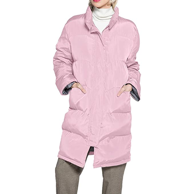 Linlink Abrigos Mujer Invierno Elegantes Caliente Cuello Largo Collar Encapuchado Chaqueta con Capucha cálida Slim Invierno Parker Outwear Capas: Amazon.es: ...