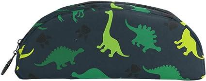Estuche para lápices, diseño de dinosaurios, color verde: Amazon.es: Oficina y papelería