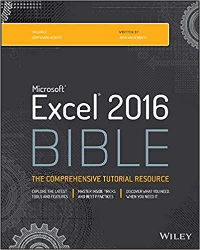 Excel 2016 bible 1 john walkenbach ebook amazon fandeluxe Choice Image