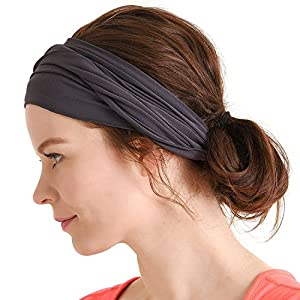 Best Epic Trends 51RA7cR0BKL._SS300_ CHARM Mens Womens Elastic Bandana Headband Japanese Long Hair Dreads Head Wrap