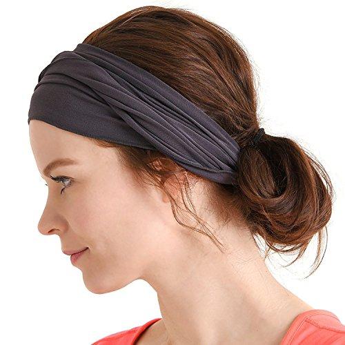 99a492bbd17 CHARM mens Elastic Bandana Headband Japanese Design Head wrap Dark Gray -  Buy Online in UAE.