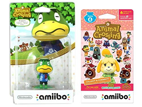 Kapp'n Amiibo (Animal Crossing Series) for Nintendo Switch - WiiU, 3DS Bonus 1-Pack (6 Cards/Pack) (Bundle) (Mario And Sonic At The Olympic Games Characters)