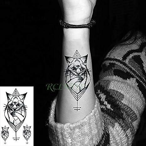tzxdbh Etiqueta engomada del Tatuaje Temporal Impermeable Tres ...