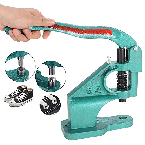 Jaketen Heavy Duty Hand Press Grommet Machine 3 Die (#0 #2 #4) with 900 Grommets Eyelet Tool Hole Punch Tool Kit