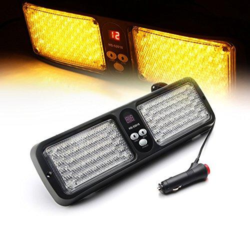 Amber Mix - Xprite Yellow/Amber 86 LED Windshield SunShield High Intensity LED Law Enforcement Emergency Hazard Warning Strobe Lights