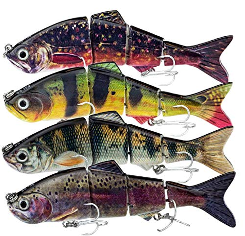 FISHN 4pcs Multi Jointed Swimbait 12cm 18g