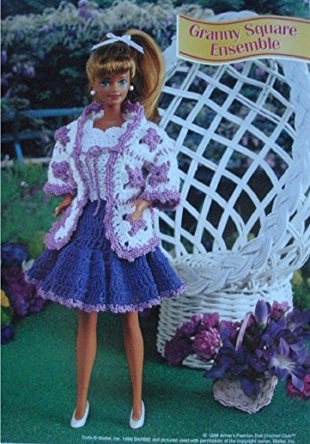 Ensemble Crochet Pattern - Barbie or Fashion Doll Dress with Jacket