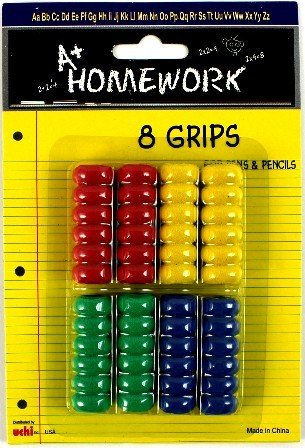DDI - Ribbed Pencil / Pen Finger Grips - Asst Colors (1 pack of 48 items)
