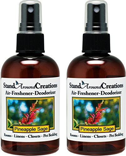 Set of 2-4-oz.-Concentrated Spray Air-Freshener/Deodorizer - Pineapple/Sage - Great for: Cars, Offices, Closets, Air-Conditioners, Pet Beds, Yoga Mats, Litter Boxes, laundry rooms & smoke odors by Stand Around Creations
