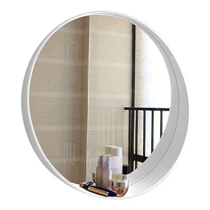 Amazon.com: Round Make-up Wall Mirrors White Frame Circle ...
