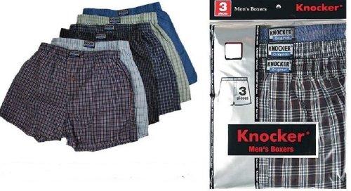 6 Men Plaid Boxer Shorts Underwear (2XL)