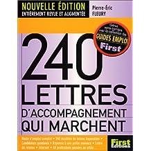 240 LETTRES D'ACCOMPAGNEMENT QUI MARCHENT