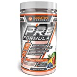 Creative Formulas Pre Workout Supplement Non Habit Forming Energy and Nitric Oxide Booster Natural Flavors 30 Servings