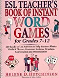 img - for ESL Teacher's Book of Instant Word Games: For Grades 7-12 book / textbook / text book